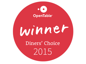 OpentTable Diners Choice Award 2015