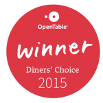 OpenTable Dinner Choice Winner 2015