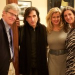 "(From left) Ted Chapin, CEO of Rodgers & Hammerstein, Hershey Felder, publicist Noreen Heron, and co-producer Eva Price gathered at the opening night party at Trattoria Gianni for ""Hershey Felder as Irving Berlin"" currently at the Royal George theatre through Dec. 6. (Photo courtesy of JVS)"